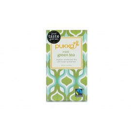 THE BIO PUKKA MINT GREEN TEA 20 SACHETS