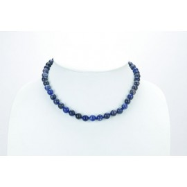COLLIER PERLES SODALITE
