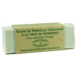 SAVON DE MARSEILLE DETACHANT A LA TERRE DE SOMMIERES HUILE ESSENTIELLE D'ORANGE - ACCENT BIO